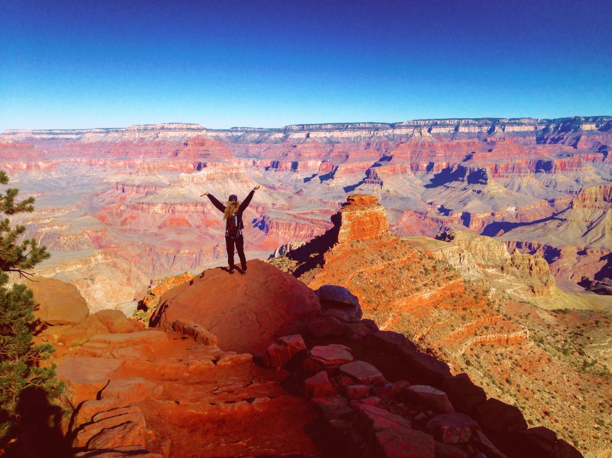 Hiking Down into One of the Seven Natural Wonders of the World: the Grand Canyon